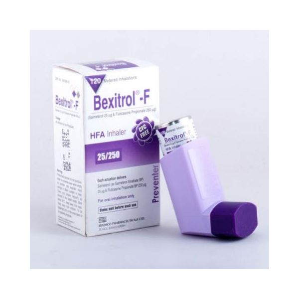 Bexitrol F 250 Dose Counter